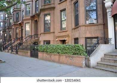 Brownstone Residential Neighborhood Homes