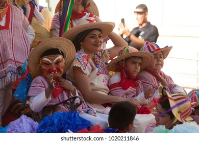 Brownsville, Texas, USA - February 23, 2017, BISD Children's Charro Days Parade is part of the Charro Days Fiesta - Fiestas Mexicanas, A bi-national festival between USA and Mexico.