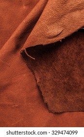 Brown,Tan Leather, Concept and Idea Style of Fine Leather Crafting, Handcrafts, Handmade, Handcrafted, Artisan or Fashion Industry. Background Textured and Wallpaper. Rustic Style.
