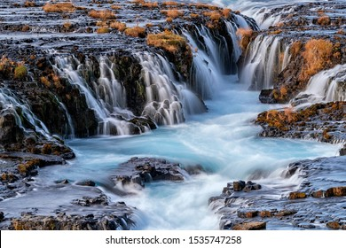 Bruarfoss iconic waterfall in Iceland