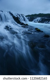 Bruarfoss waterfall in Golden Circle, Iceland