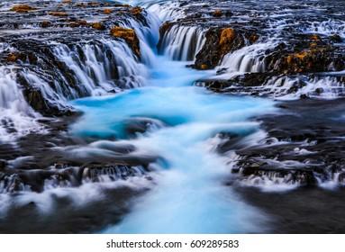 Bruarfoss waterfall, Reykjavik, Iceland