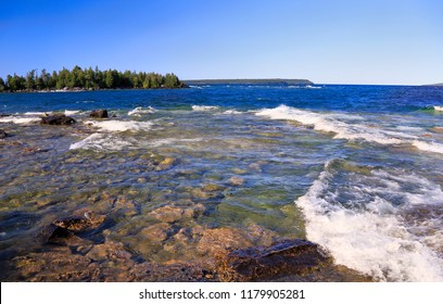 Bruce Peninsula National Park, Lake Huron in Georgian Bay, Canada