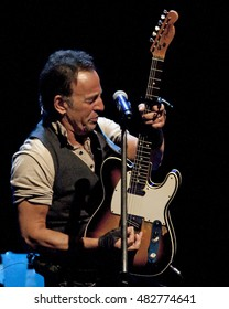 Bruce Springsteen performs in Pittsburgh Sunday, September 11, 2016, at Consol Energy Center.