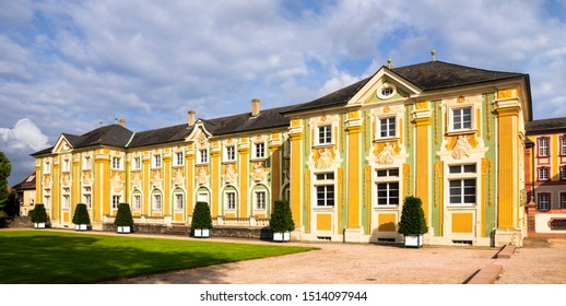 Bruchsal, Germany, 09.09.2019 Side building at the castle Bruchsal