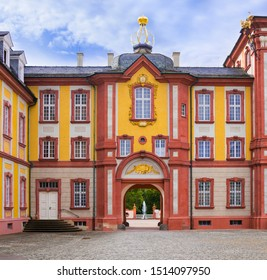 Bruchsal, Germany, 09.09.2019 Side passage to the castle park at the castle Bruchsal