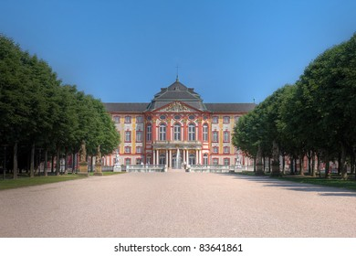 Bruchsal Palace in district of Karlsruhe, Germany, a 18th century residence of the ruling bishop of the region (Speyer)