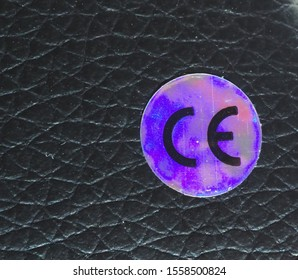 BRUESSEL, BELGIUM - CIRCA NOVEMBER 2019: CE marking certification mark for conformity with health safety and environmental protection standards for products sold within European Economic Area (EEA)