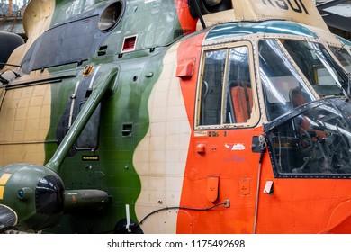 BRUESSELES, BELGIUM - 15 June 2018 - Details of millitary equipment in the Military Museum of Brusseles, Belgium