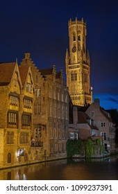 BRUGES - AUG 16: view of city center of Bruges, Belgium on 16 August, 2016. Bruges is one of the most important tourist destinations in Belgium.