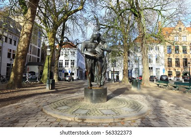 BRUGES, BELGIUM - 07 January 2017: Historic center of Bruges, Belgium