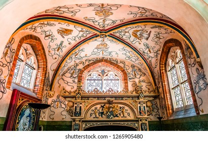 BRUGES, BELGIUM  AUGUST 04, 2014 : Interiors, paintings and details of sint jacobskerk church,  August 1, 2014,  in Bruges, Belgium