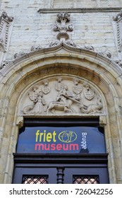 BRUGES, BELGIUM –28 SEP 2017- View of the Friet Museum, a museum dedicated to the Belgian potato French Fry. It is located in the old center of Bruges in Belgium.