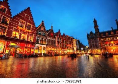Bruges Market Square Belgium taken in 2013