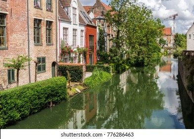 Brugge, Belgium - August, 2017. Brugge is a medieval historic city. The streets, channels and buildings of Brugges are popular touristic destination of Belgium.