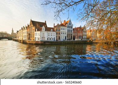 Brugge (Brugges) canal and city view, Belgium