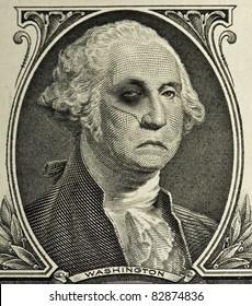Bruised and Battered George Washington