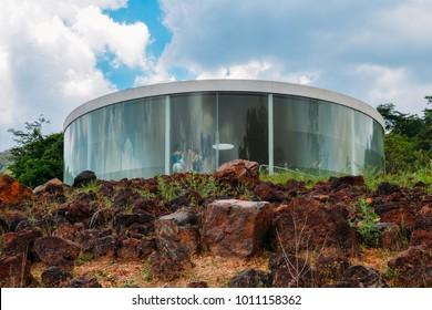 Brumadinho, Brazil - Dec 27, 2017:  Sonic Pavilion by Doug Aitken at Inhotim Institute, Minas Gerais, Brazil
