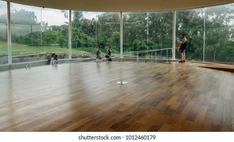 Brumadinho, Brazil - Dec 27, 2017:  Contemporary art exhibition at the Inhotim Institute, Minas Gerais, Brazil