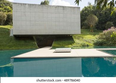 BRUMADINHO, BRAZIL - JUNE 03 2014 - Gallery Adriana Varejao, at the Center for Contemporary Art Inhotim, on June 03, 2014, Brumadinho city, Brazil.