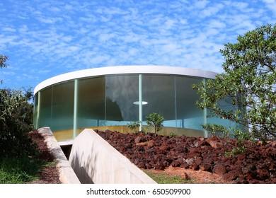 "BRUMADINHO, BRAZIL - MAY 2nd, 2017: ""Sonic Pavilion"" by Doug Aitken at Inhotim Institute"