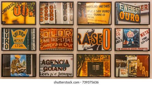 BRUMADINHO, BRAZIL - OCTOBER, 15, 2017: Art instalation at Claudia Andajur Gallery. Inhotim Institute, Minas Gerais