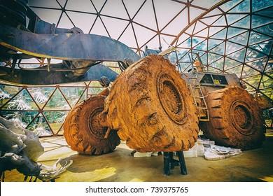 "BRUMADINHO, BRAZIL - OCTOBER, 15, 2017: ""De Lama Lâmina"" instalation by Matthew Barney at Inhotim Institute, Minas Gerais"