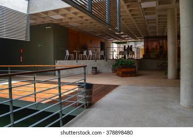 BRUMADINHO, INHOTIM, MINAS GERAIS/BRAZIL - FEBRUARY 2013: Burle Marx Education and Culture Center, Inhotim, Brumadinho, Minas Gerais/Brazil.