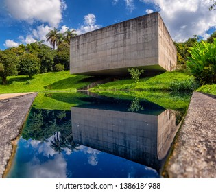 Brumadinho/MG/Brazil - May 01st 2019: Adriana Varejão Gallery in Inhotim, Largest Open Air Museum in the World