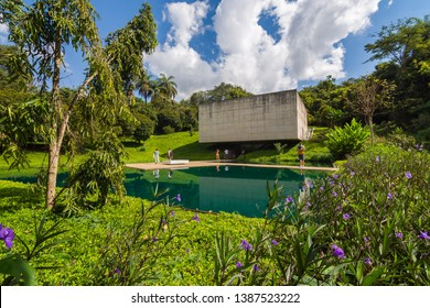 Brumadinho/MG/Brazil - May 01st 2019: Adriana Varejão Artist Gallery in Inhotim, Largest Open Air Museum in the World, Minas Gerais State