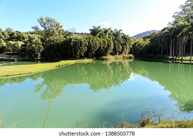 Brumadinho/Minas Gerais/Brazil - MAR 23 2013: Fifth Partial view of the Central Lake of Inhotim