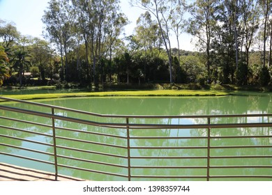 Brumadinho/Minas Gerais/Brazil - NOV 01 2017: Partial view of the Central Lake of Inhotim