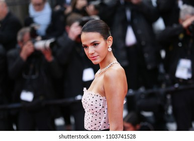Bruna Marquezine attends the screening of 'Sink Or Swim (Le Grand Bain)' during the 71st annual Cannes Film Festival at Palais des Festivals on May 13, 2018 in Cannes, France.