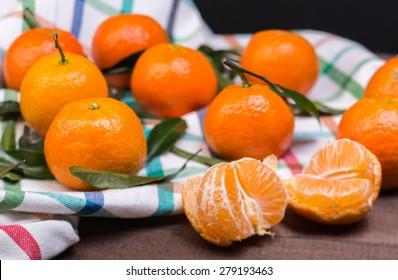 brunch of tangerines