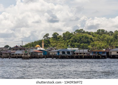 Brunei Darussalam, Brunei - December 3 2018: Kampong Ayer, the historical settlement area in Bandar Seri Begawan. It was the de facto capital for few centuries.