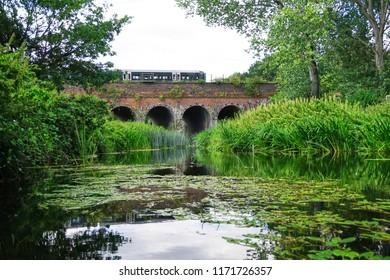 Brunel's Great Western Railway bridges Old River in Twyford, Berkshire
