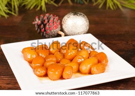 Brunende Kartofler Swedish Christmas Food Classic Stock Photo Edit
