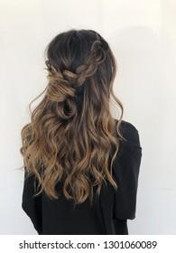 Brunette Braided Balayage Hair
