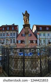 Brunnen am Weinmarkt Bad Windsheim is a city in Bavaria Germany