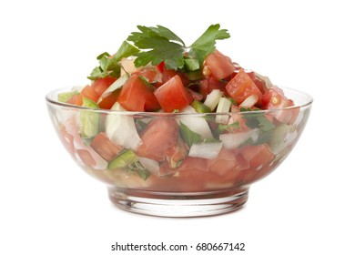 Bruschetta or salsa bowl with corn chips