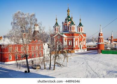 Brusensky Monastery in Kolomna, Krestovozdvizhensky Cathedral, Russia