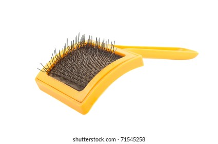 Brush for animals on a white background