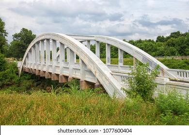 Brush Creek Bridge/Rainbow Bridge in Riverton/Baxter Springs, Kansas. (famous Route 66 attraction)