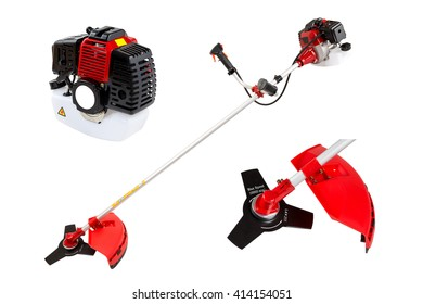 brush cutter accessories isolated on the white background