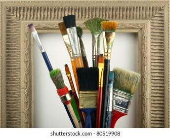 brush in the frame