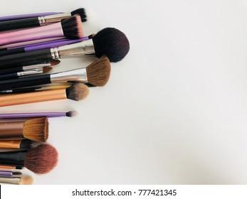 Brush make up on white