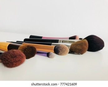 Brush make up on white