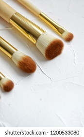 brush for makeup, eye shadow, view from above