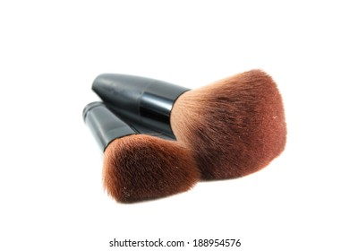Brush for makeup on a white background.