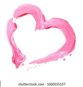brush paint stroke heart